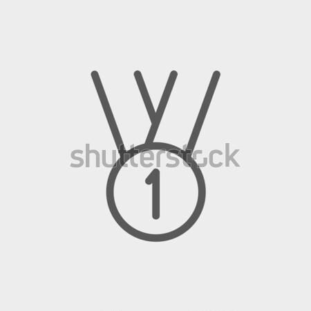 金メダル 最初の場所 スケッチ アイコン ベクトル 孤立した ストックフォト © RAStudio