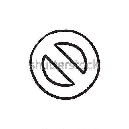 Not allowed sign sketch icon. Stock photo © RAStudio