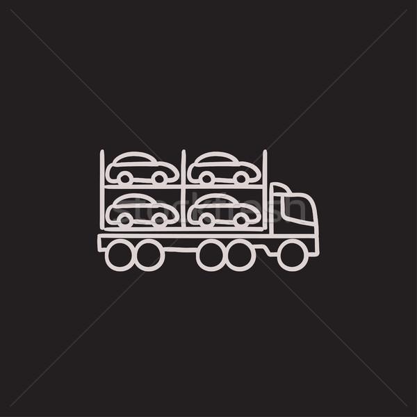 Car carrier sketch icon. Stock photo © RAStudio