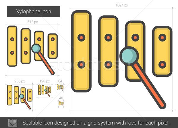 Xylophone line icon. Stock photo © RAStudio
