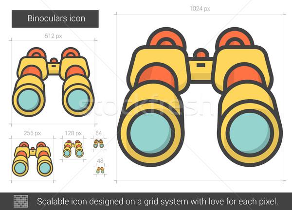 Binoculars line icon. Stock photo © RAStudio