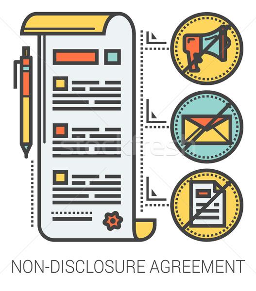 Non-disclosure agreement line infographic. Stock photo © RAStudio