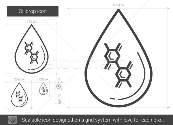 Olie drop lijn icon vector geïsoleerd Stockfoto © RAStudio