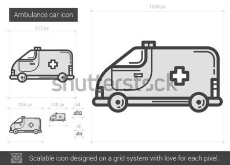 Ambulance auto lijn icon vector geïsoleerd Stockfoto © RAStudio