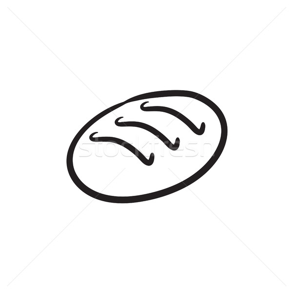 буханка эскиз икона вектора изолированный рисованной Сток-фото © RAStudio