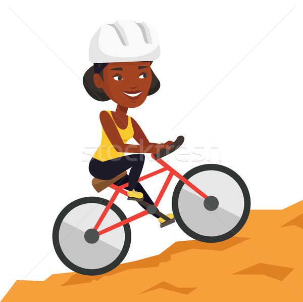 Młoda kobieta rower góry ekstremalnych kobieta Zdjęcia stock © RAStudio