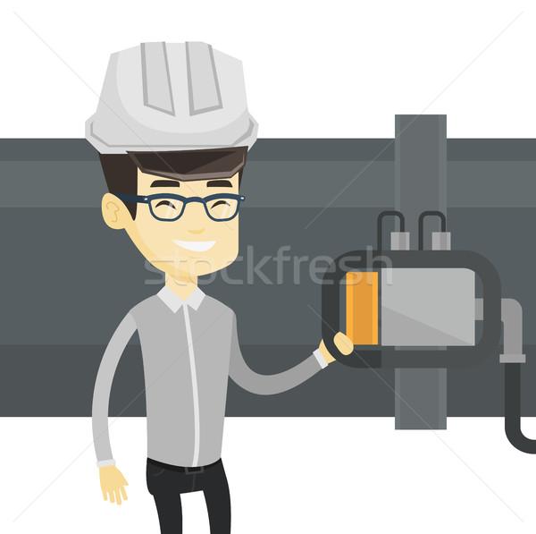 演算子 検出器 ガス パイプライン アジア ストックフォト © RAStudio