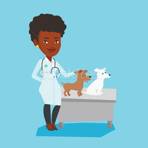 ветеринар собаки стетоскоп больницу женщины Сток-фото © RAStudio