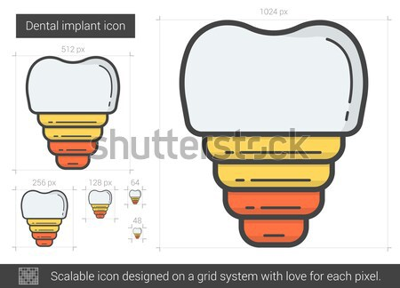 Dental implant line icon. Stock photo © RAStudio