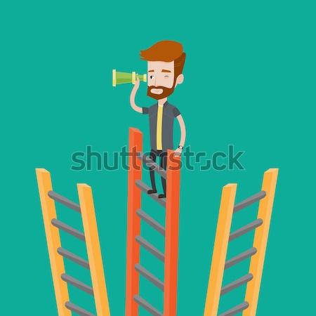 Businessman looking for business opportunities. Stock photo © RAStudio