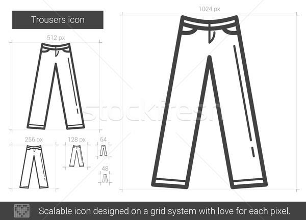 Pantolon hat ikon vektör yalıtılmış beyaz Stok fotoğraf © RAStudio