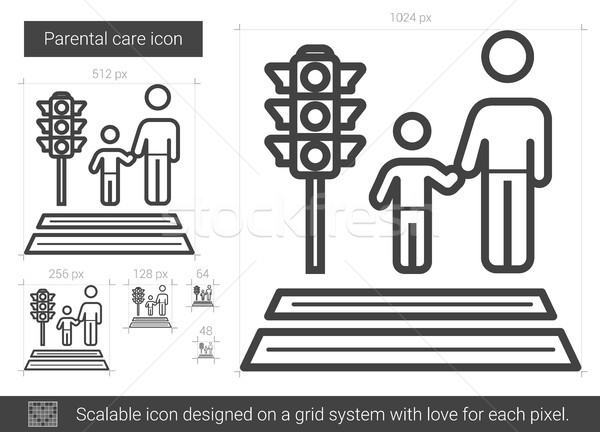 Parental care line icon. Stock photo © RAStudio