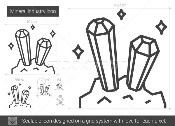 Stock photo: Mineral industry line icon.