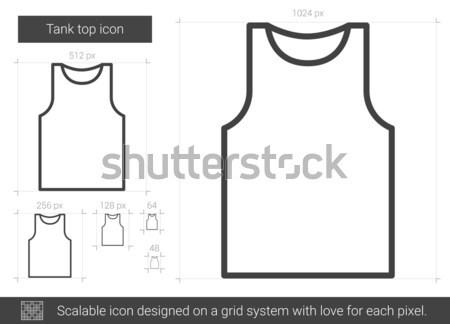 Tanque superior línea icono vector aislado Foto stock © RAStudio