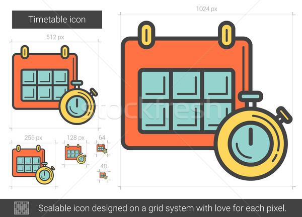 Dienstregeling lijn icon vector geïsoleerd witte Stockfoto © RAStudio