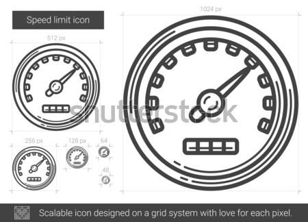 Speed limit line icon. Stock photo © RAStudio