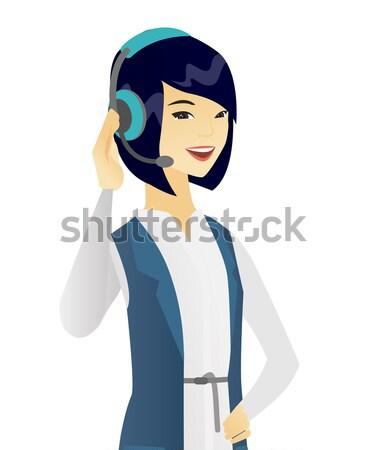 Hindu customer service operator in headset. Stock photo © RAStudio
