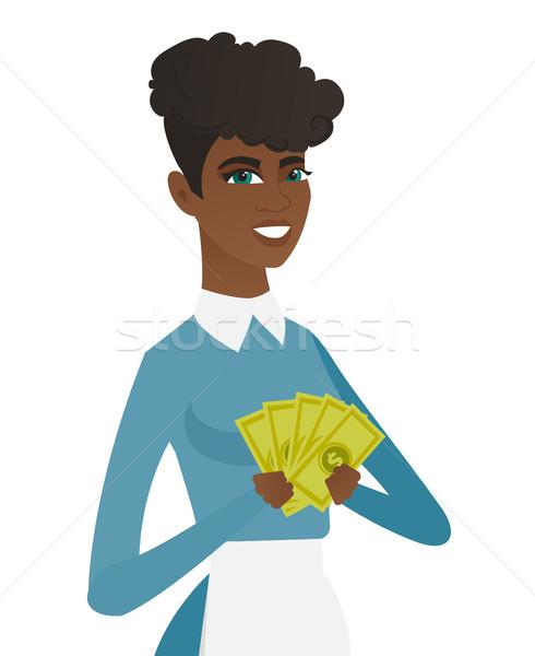 молодые чистого деньги улыбаясь равномерный Сток-фото © RAStudio