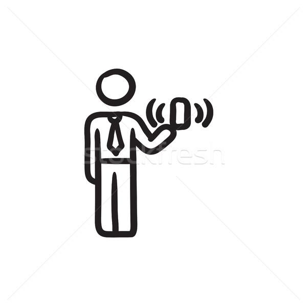 Mobilität Skizze Symbol Vektor isoliert Hand gezeichnet Stock foto © RAStudio