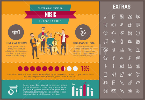 Music infographic template, elements and icons. Stock photo © RAStudio