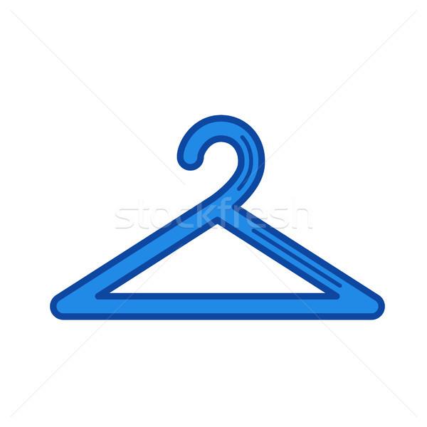 Hanger lijn icon vector geïsoleerd witte Stockfoto © RAStudio