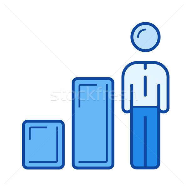 Business growth line icon. Stock photo © RAStudio
