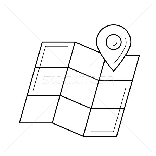 Map locator line icon. Stock photo © RAStudio