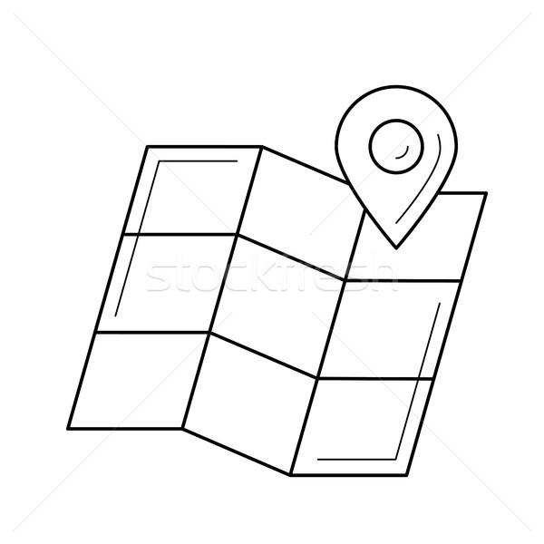 Map locator line icon. Stock photo © RAStudio
