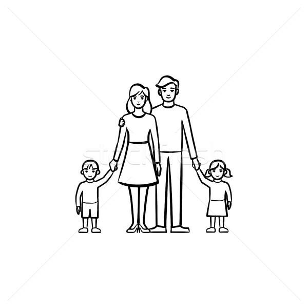 Family relationship hand drawn sketch icon. Stock photo © RAStudio