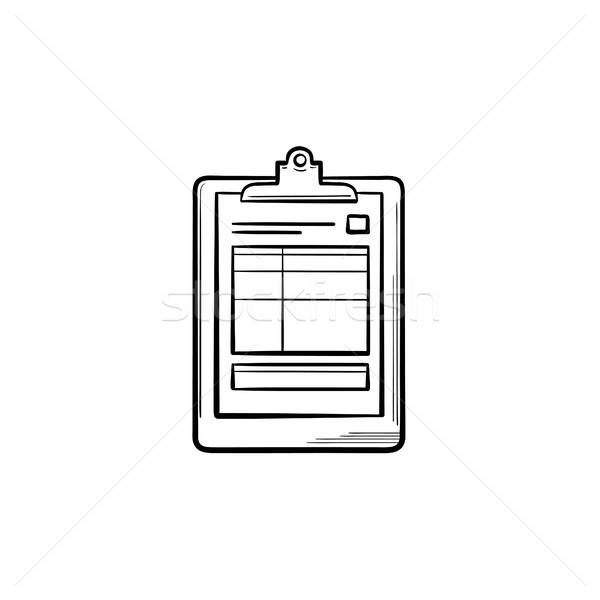 医療 レコード 手描き いたずら書き アイコン ストックフォト © RAStudio