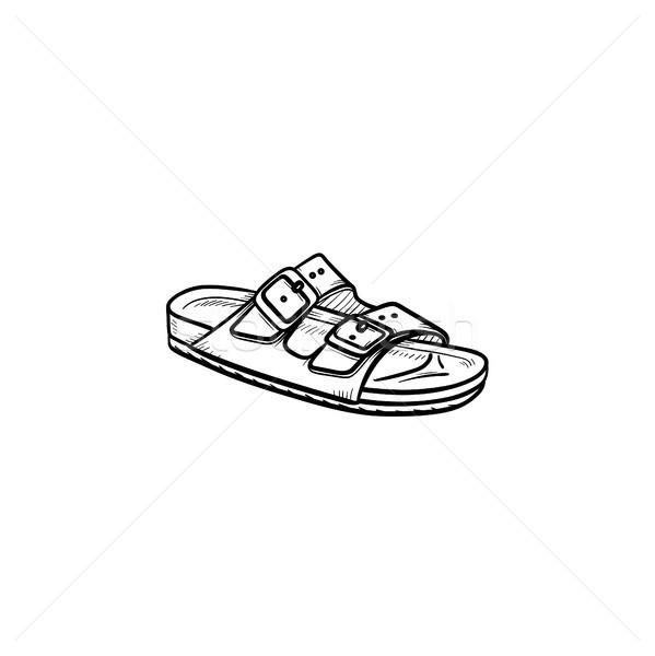 Sandal hand drawn outline doodle icon. Stock photo © RAStudio