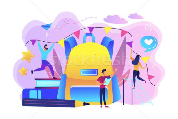 Back to school celebration concept vector illustration. Stock photo © RAStudio