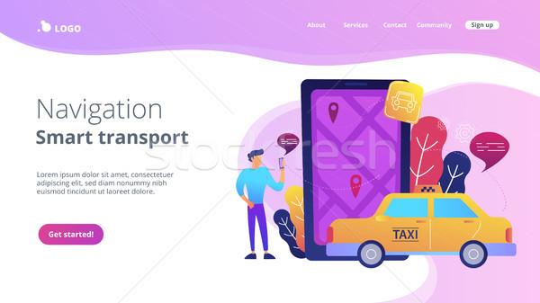 City navigation apps, smart city concept illustration. Stock photo © RAStudio