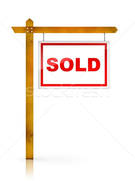 Sign - Sold Stock photo © RAStudio