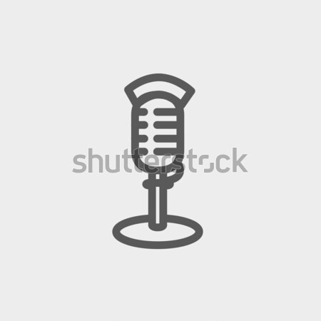 On air microphone thin line icon Stock photo © RAStudio