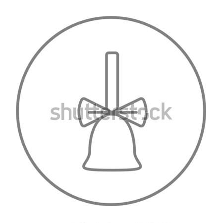 Schule Glocke Band dünne line Symbol Stock foto © RAStudio