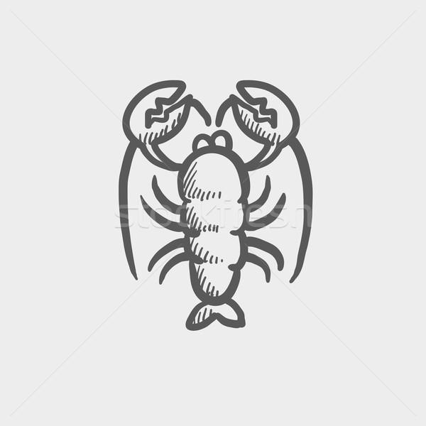 ロブスター スケッチ アイコン ウェブ 携帯 手描き ストックフォト © RAStudio