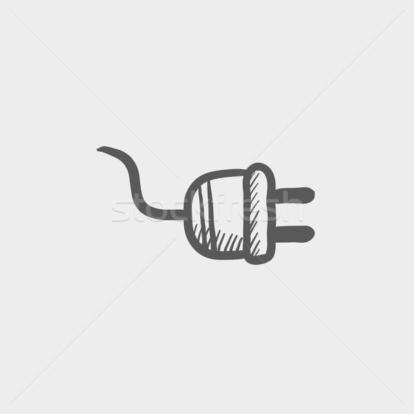 PLug sketch icon Stock photo © RAStudio