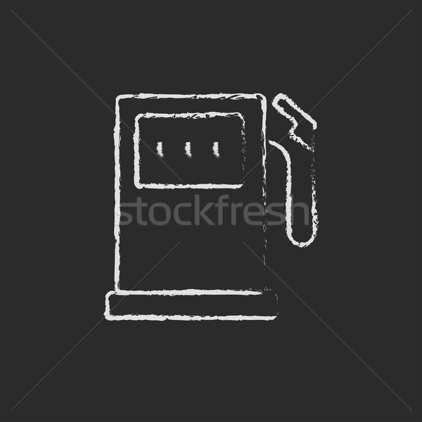 Stacji benzynowej ikona kredy tablicy Zdjęcia stock © RAStudio