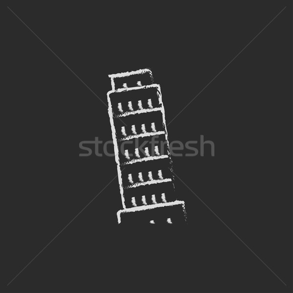 Leaning Tower of Pisa icon drawn in chalk. Stock photo © RAStudio