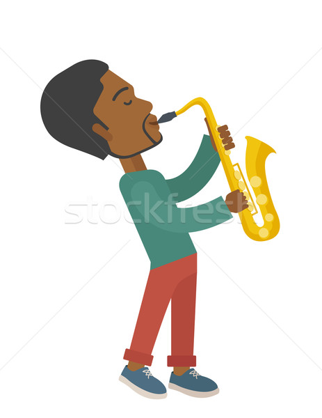 Saxophonist. Stock photo © RAStudio