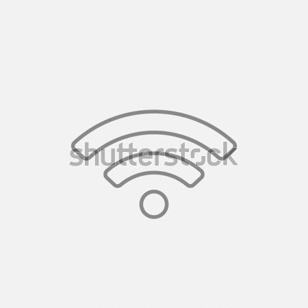 Stock photo: Wifi sign line icon.