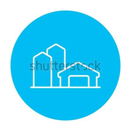 Farm buildings line icon. Stock photo © RAStudio
