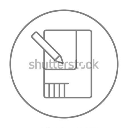 Düzen ev hat ikon web hareketli Stok fotoğraf © RAStudio