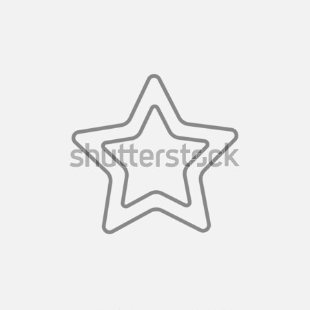 Rating star line icon. Stock photo © RAStudio
