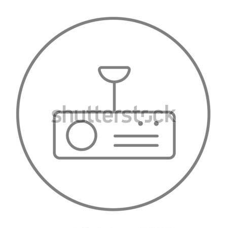 Digitale proiettore line icona web mobile Foto d'archivio © RAStudio