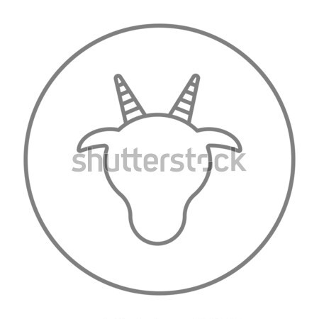 Cow head line icon. Stock photo © RAStudio