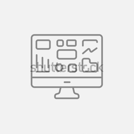 Monitor Business Graphen line Symbol Web Stock foto © RAStudio