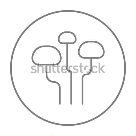 キノコ 行 アイコン ウェブ 携帯 インフォグラフィック ストックフォト © RAStudio