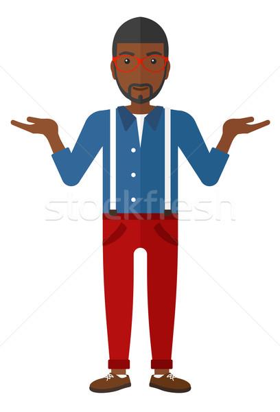 Man standing with open arms. Stock photo © RAStudio